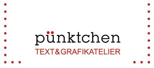 Logo pünktchen Text- und Grafikatelier